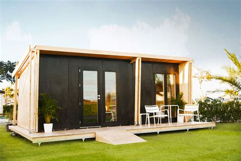 tiny houses prefab vivood tiny pop up wooden home from spain comes with