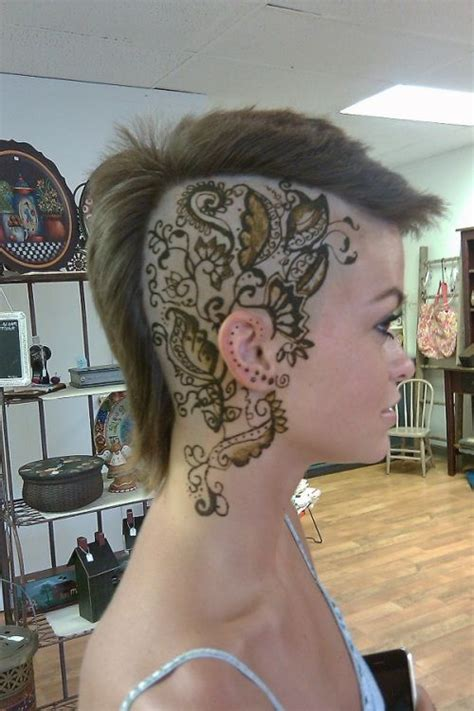 shaved head tattoo 25 best ideas about scalp on honeycomb
