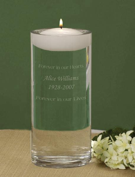 Memory Vases For Weddings by Personalized Wedding Memorial Vase Remembrance Candle