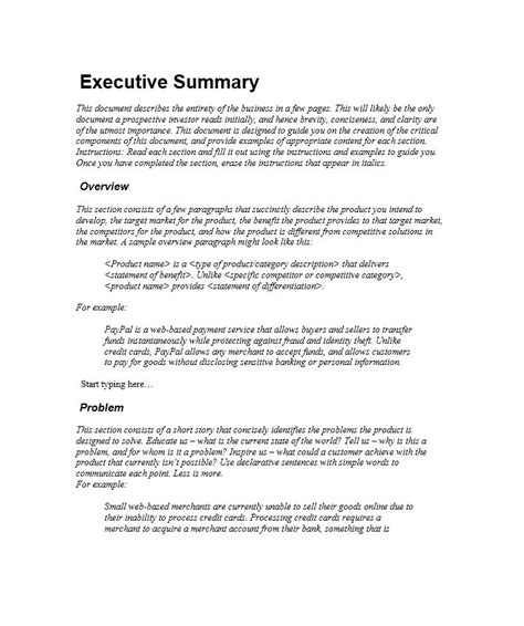 a good resume outline best sample executive summary resume resume
