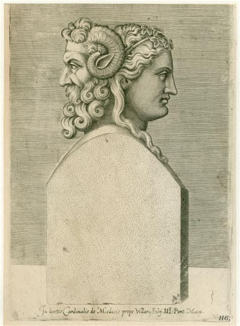janus tattoo bust of the god janus after whom the island of