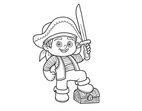 pirate boy coloring page a pirate boy coloring page coloringcrew com