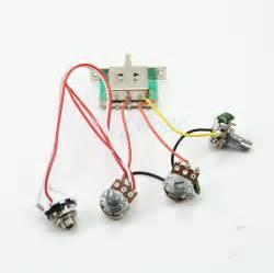 guitar wiring harness 1v2t 5 way switch 500k pots for fender strat ebay