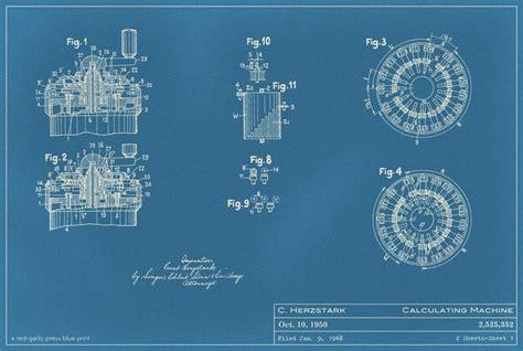 pattern recognition calculator curt herzstark curta calculation machine blue print