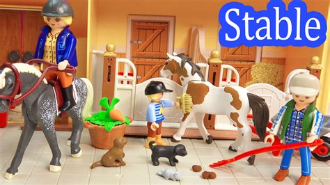 Toy Barn And Farm Animals Playmobil Country Take Along Family Horse Stable Barn Farm