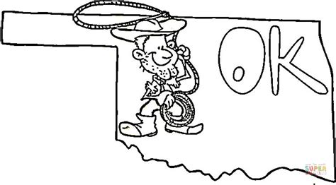 oklahoma map coloring page free printable coloring pages