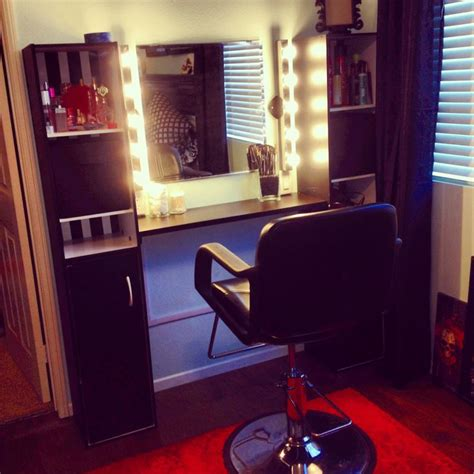 Diy Vanity Lights Megan S Diy Vanity Lights Makeup Bench Home Salon For The Home Vanities Walk