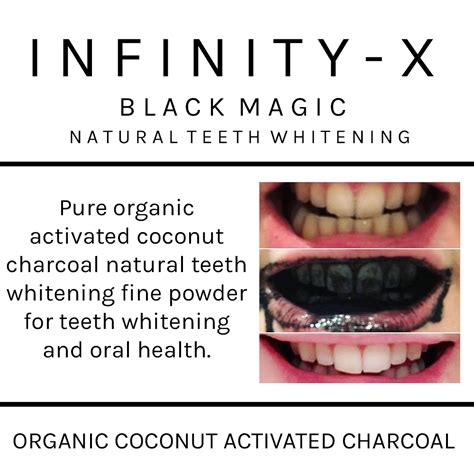 infinity xcouk black magic activated coconut charcoal