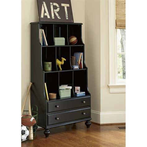 smartstuff black and white bookcase in black 437b018