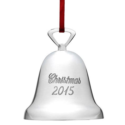 2015 reed barton annual christmas bell silverplate ornament