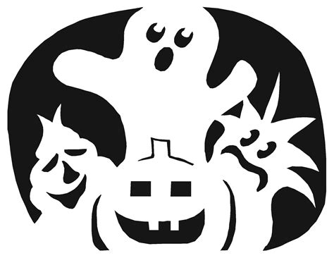 scary ghost pumpkin template halloween pinterest