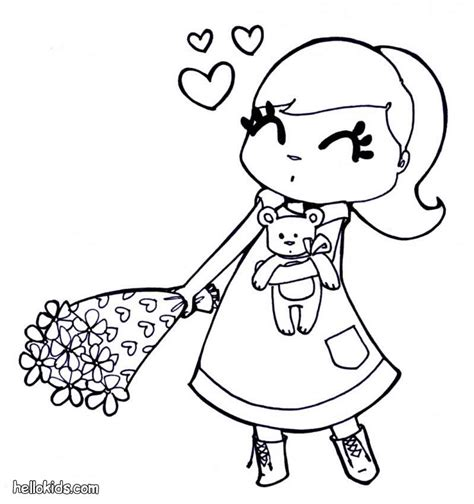 coloring pages flower girl 301 moved permanently