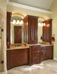 how are the two vanity sinks and the center cabinet
