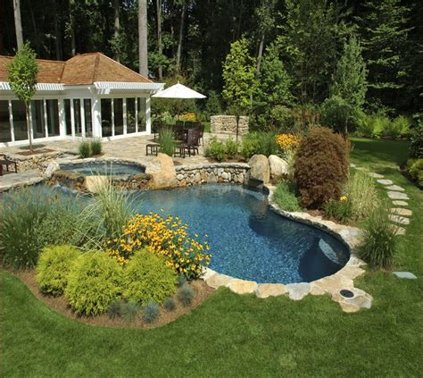 backyard with pool landscaping ideas garden design 58633 garden inspiration ideas