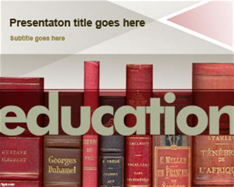 Education Powerpoint Templates Free Powerpoint Templates Education Theme