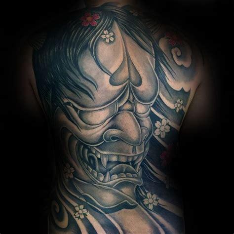 japanese hannya mask back tattoo 100 hannya mask tattoo designs for men japanese ink ideas