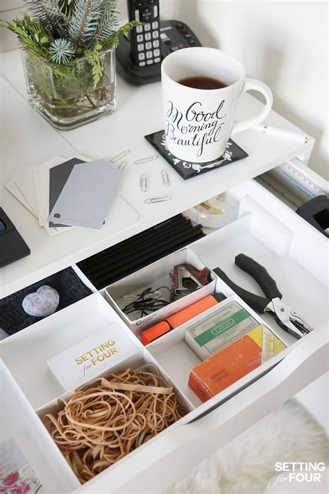 Desk Drawer Organizer Ideas 5 Easy Organization Ideas To Create The Chicest Desk Setting For Four