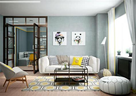 home design with yellow walls две решения за модерен апартамент с жълти акценти
