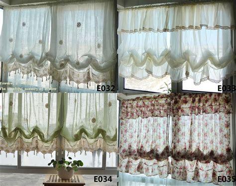 balloon curtains for kitchen country white balloon shade pull up austrian cafe