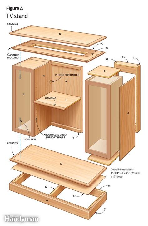 diy tv cabinet plans free plans free