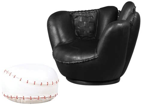 baseball chair and ottoman my favorite novelty chairs for sale