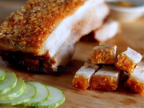 the informal chef crispy roast pork belly siu yuk 脆皮烧肉