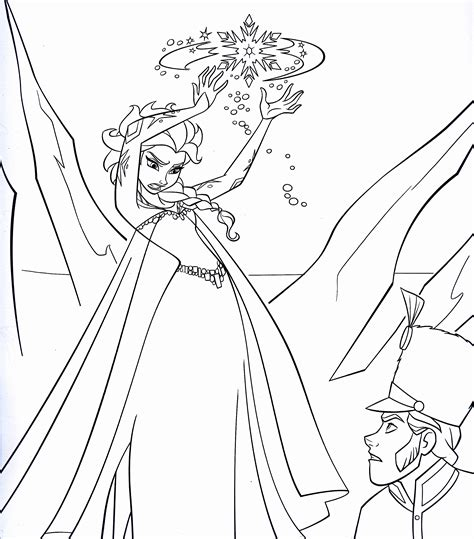 Walt Disney Coloring Pages Queen Elsa Prince Hans Coloring Princess Frozen