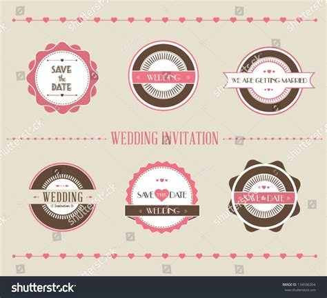 Retro Wedding Banner by Vintage Vector Illustration Set Wedding Banner Stock