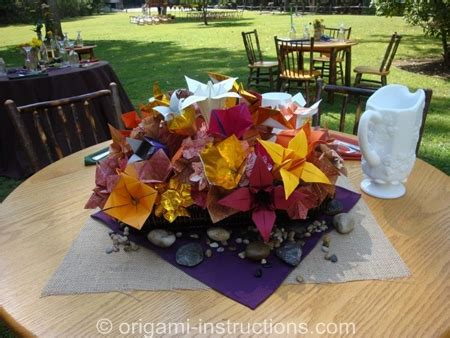 Origami Table Decorations - origami wedding origami for your special day