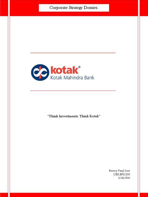 kotak mahindra bank ltd kotak mahindra bank ltd banks