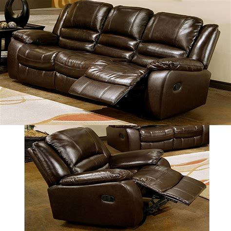 Abbyson Living Berkshire 3 Leather Reclining Furniture Set Burgundy by Abbyson Living Brownstone 2 Pc Reclining Leather Sofa And