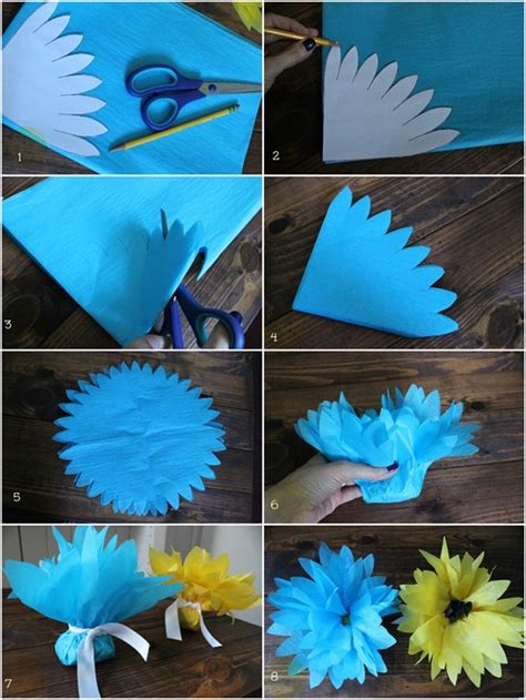 diy tissue paper crafts how to make tissue paper flowers 14 excellent ways