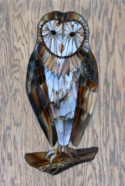 stained glass owl l kasia mosaics barn owl