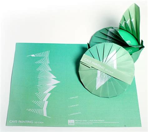 Origami Cd Sleeve - 14 best furnace mfg custom jackets packaging images on