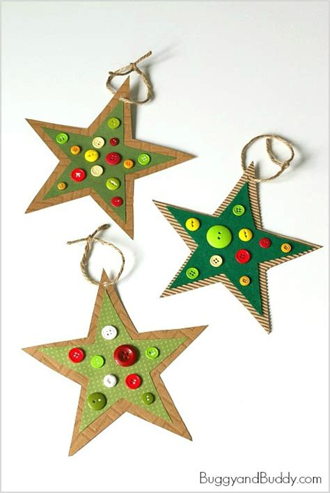 ornament crafts for kindergarten button ornament craft for