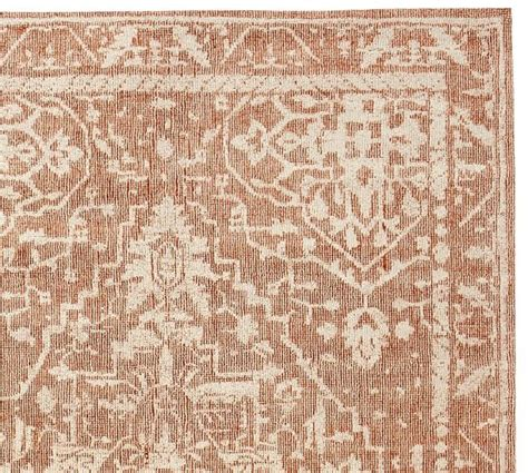Evelyn Hand Loomed Rug Coral Pottery Barn Pottery Barn Coral Rug
