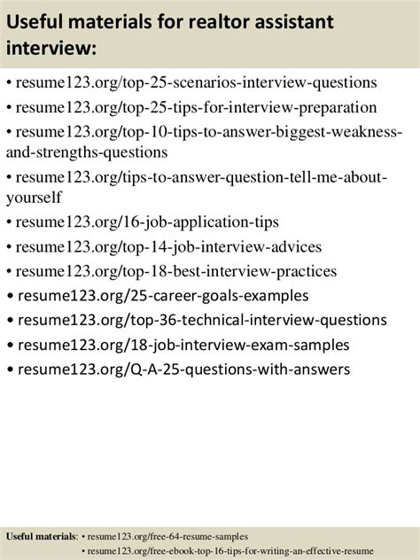 Realtor Assistant by Top 8 Realtor Assistant Resume Sles