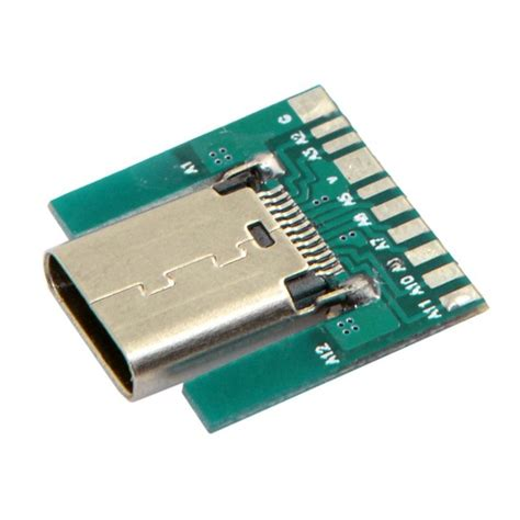 Soket Micro Usb Cewek Board Usb 01 1 מוצר diy 24pin usb c usb 3 1 type c socket connector smt type with pc