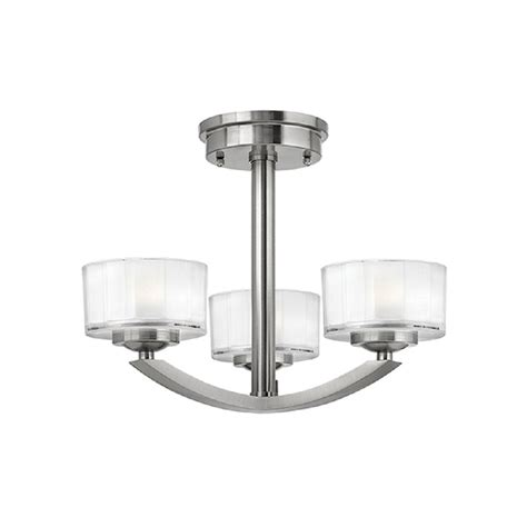 Semi Flush Ceiling Lights Uk Deco Low Ceiling Light Fitting Brushed Nickel With 3 Lights