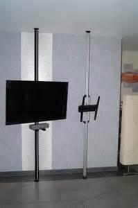 fernsehhalterung decke tv halterung boden decken stange uni prof 24
