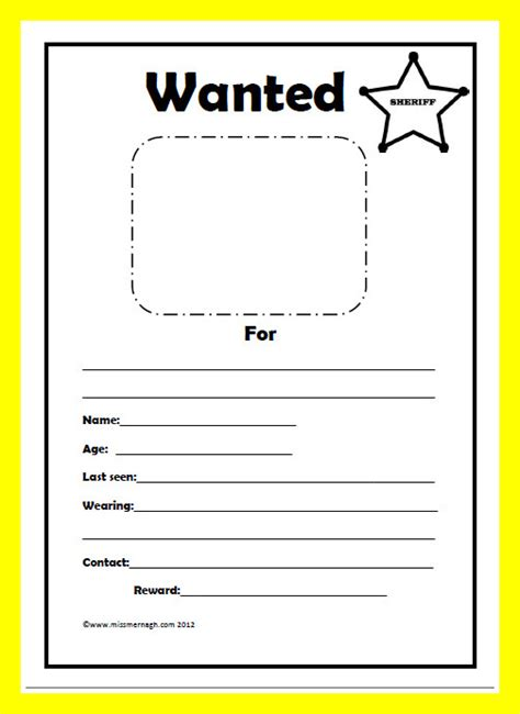 free wanted poster template printable wanted poster template missmernagh