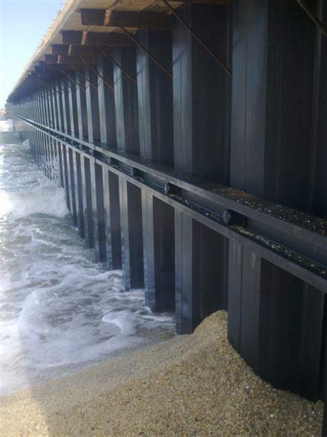 timber sheet pile wall composite sheet pile wall system creative pultrusions