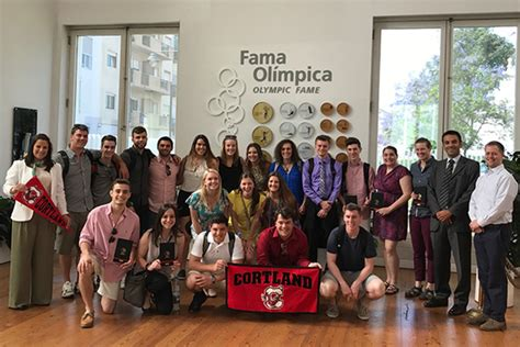 Mba Colleges In Portugal by Sport Management Class Gets In The Global Suny Cortland
