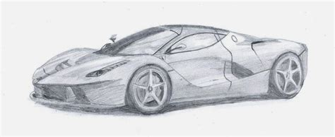 ferrari laferrari sketch ferrari laferrari by danchix on deviantart