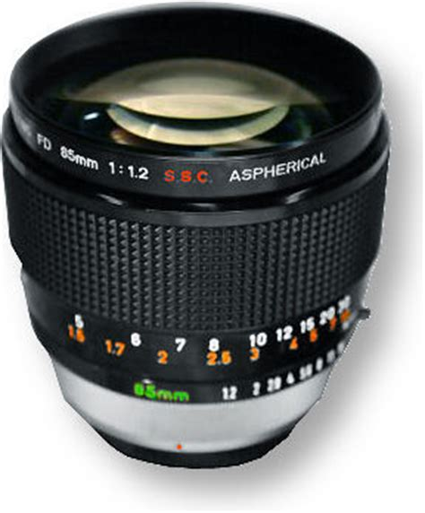 canon lens fd 85 f/1.2 s.s.c. and canon lens fd 85mm f/1.8