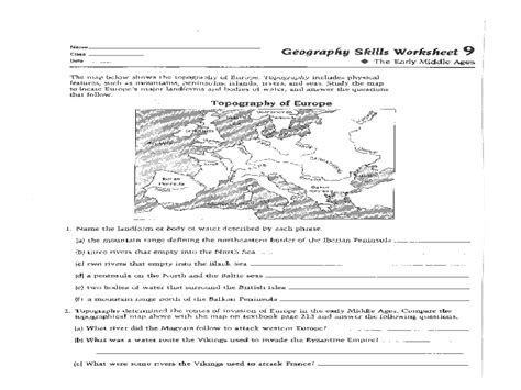 Geography Worksheets High School by Geography Skills Worksheets Casademateo