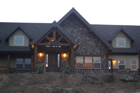 Customized Home With Hardie Board Siding Whisper Creek Log Homes The Log Home