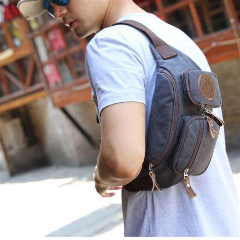 Tas Pinggang Vape Blue muzee tas pinggang selempang canvas travel me 5688