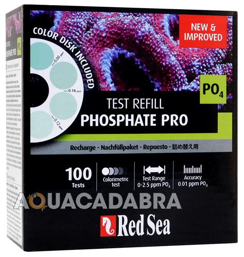 Sea Phosphate Pro Test Kit sea phosphate pro refill test kit 100 po4 tests fish