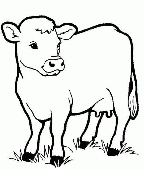 Coloring Pages Cow Animals Coloring Pages For Kids Animal Coloring Pages For